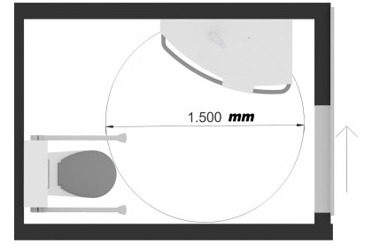 deuren en portalen in een mindervalide toilet