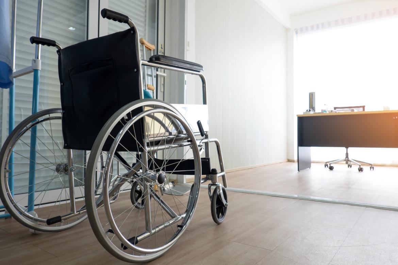 hotels met mindervalide kamers; bewegingsruimte