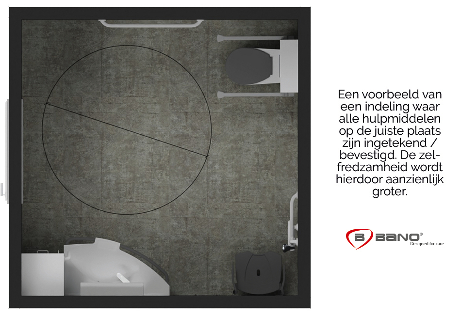 Juiste indeling hulpmiddelen badkamer