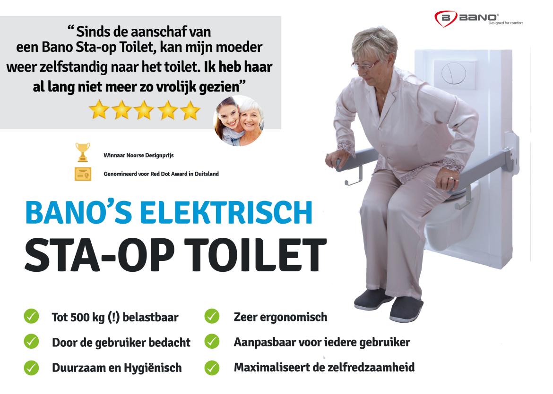 Opstatoilet van Bano Benelux