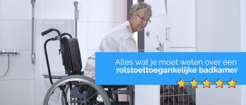 Rolstoeltoegankelijke badkamer (rolstoel badkamer)