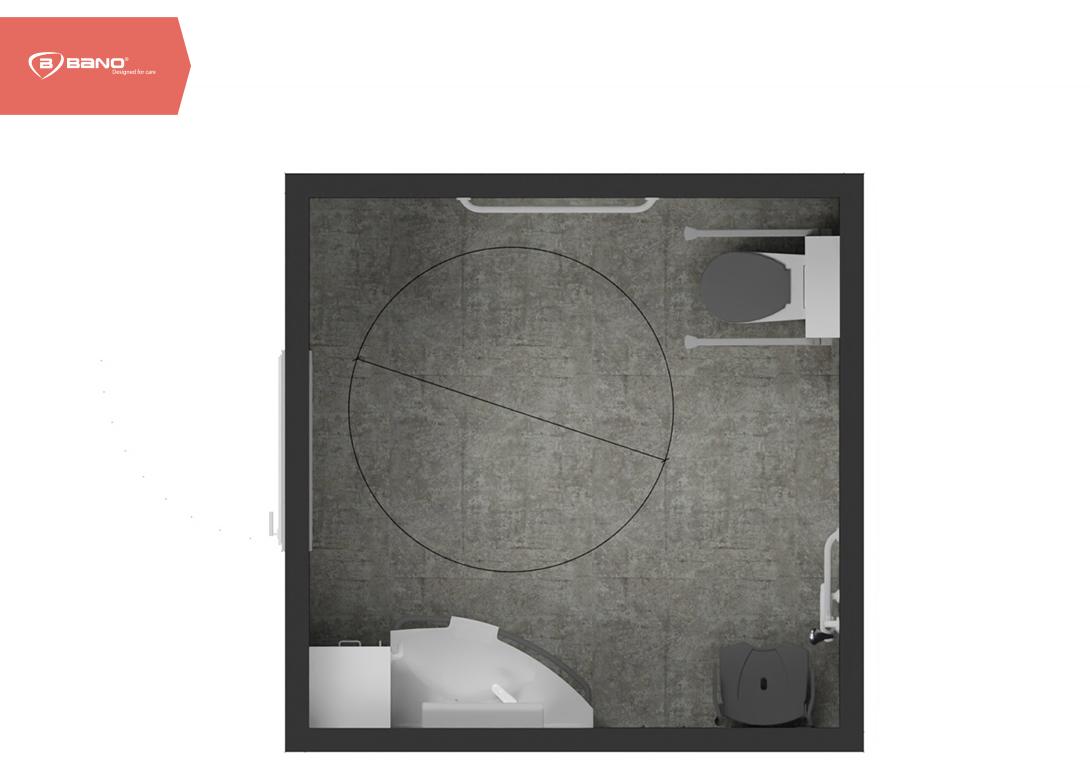 Senioren badkamer in 6 stappen - vrijblijvende indelingstekening