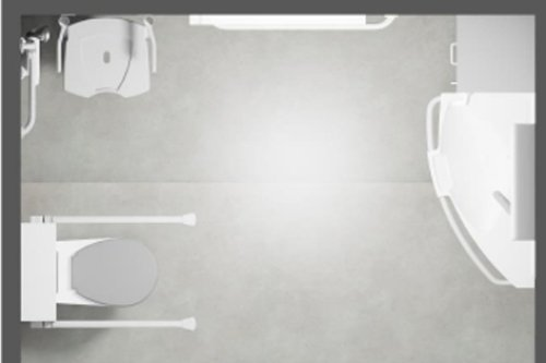 Senioren badkamer ontwerpen - Indelingstekening