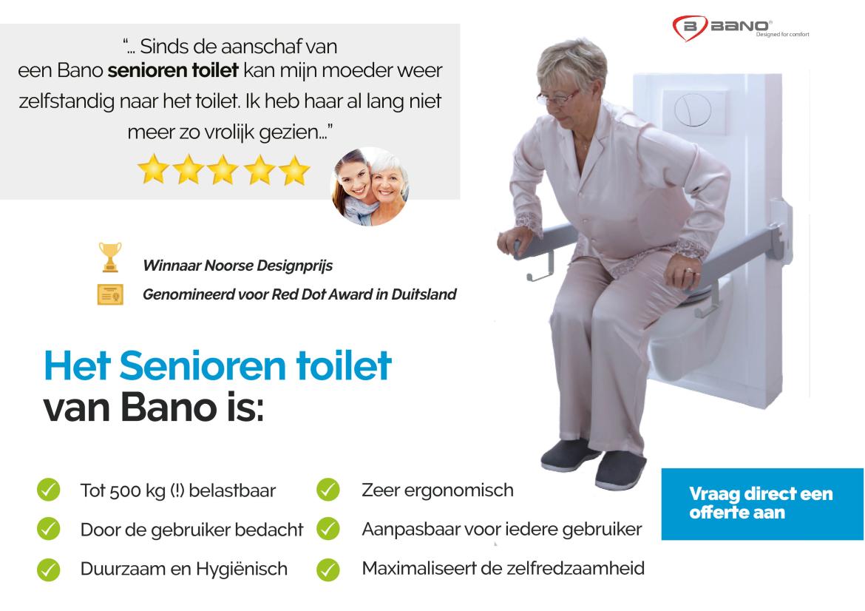 Senioren toilet kopen? Bano Benelux staat voor je klaar