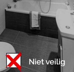 Veilig douchen in bad? Dat gaat vaak fout! Kies voor een aangepaste douche
