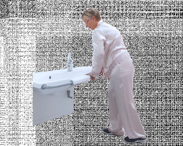 Badkamer Wastafel Hoogte : Wastafel hulpmiddelen van bano zorgbadkamers