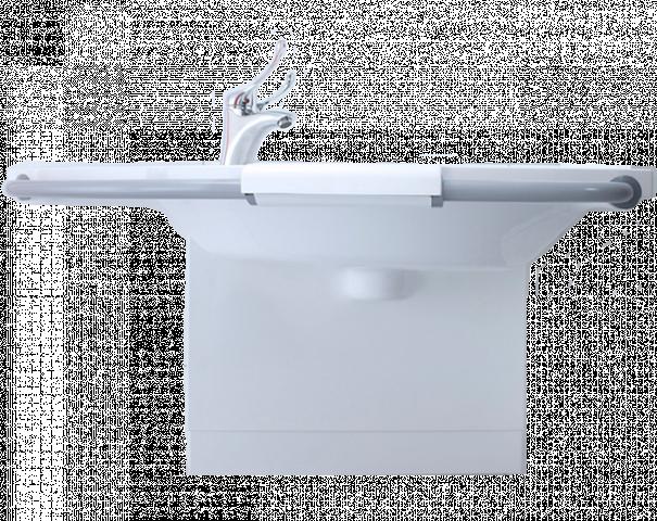 Wastafelkraan met lange hendel badkamer hulpmiddelen bano benelux