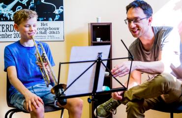 trompetles tromboneles jazz improvisatie