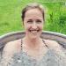 vrouw in het ijsbad te Amsterdam