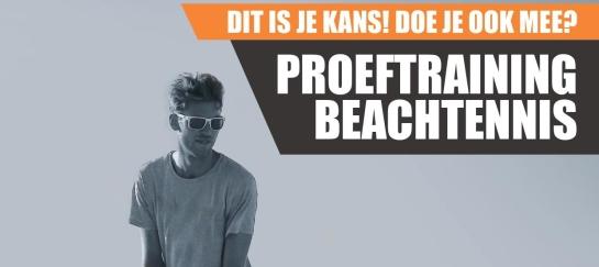 Beachtennis proeftraining lessen trainingen Beachfabriek indoor Bo Groot Antink Quicksand Beachtennis rackets