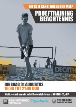 Beachtennis lessen trainingBo Groot Antink Beachfabriek Quicksand beachtennis rackets