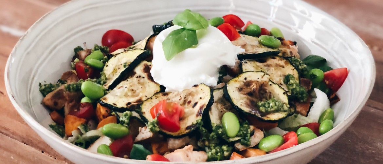 3x Gezonde kip salade (lunch)