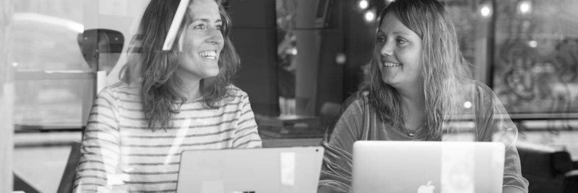 Berim - Alida en Muriël in online coachingssessie