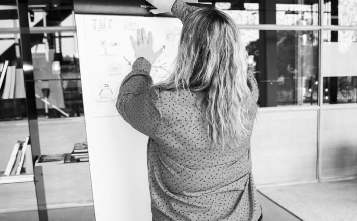 Alida als trainer op een Live Skillslab dag, Next Level Programma leiderschapsontwikkeling