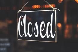 Showroom gesloten