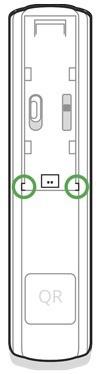 AJAX DoorProtect Plus handleiding draaddetector stekker uitbreken