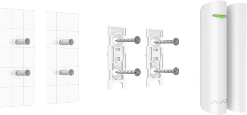 AJAX DoorProtect Plus installatie handleiding montage