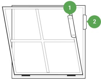 AJAX DoorProtect Plus handleiding montage op raam