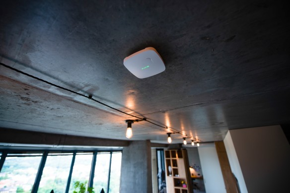 AJAX FireProtect Plus ceiling-mounted.