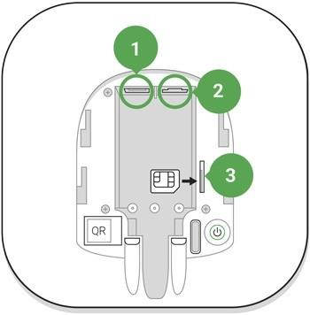 AJAX Hub handleiding stroomaansluiting