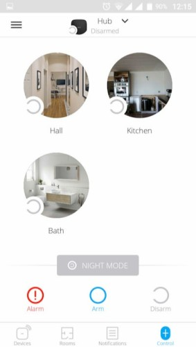 AJAX Hub handleiding kamers aanmaken