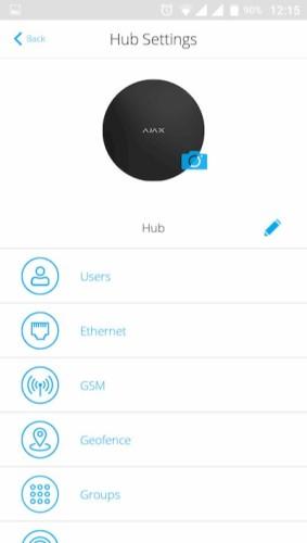 AJAX Hub handleiding instellingen