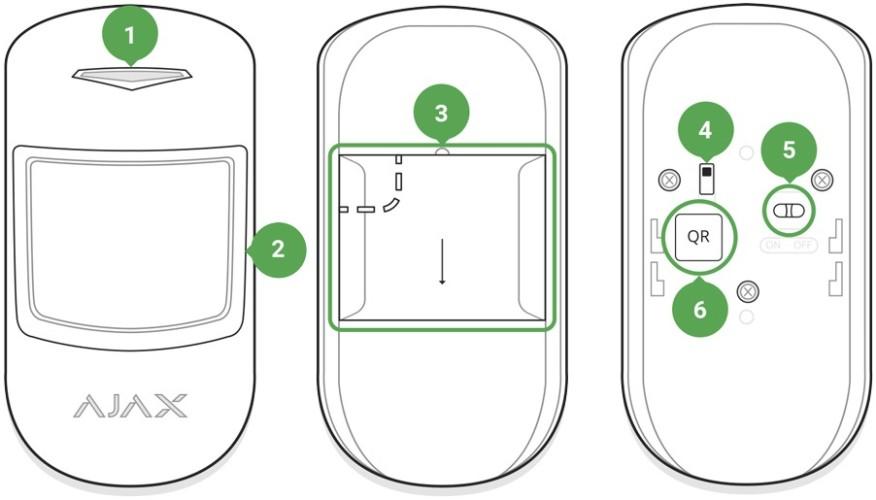 AJAX MotionProtect handleiding functies
