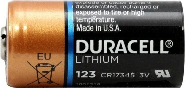 Duracell CR123A battery for AJAX alarm system