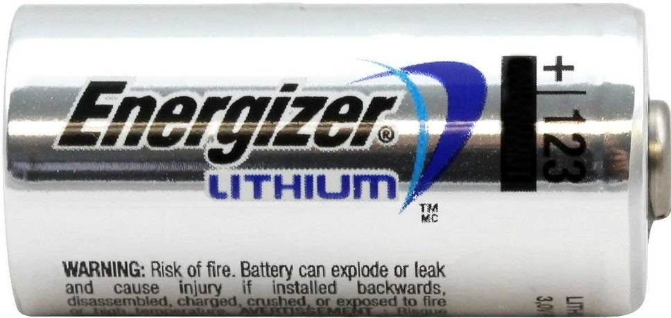 Energizer CR123A battery for AJAX alarm system