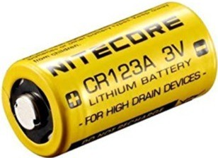 Nitecore CR123A battery for AJAX alarm system