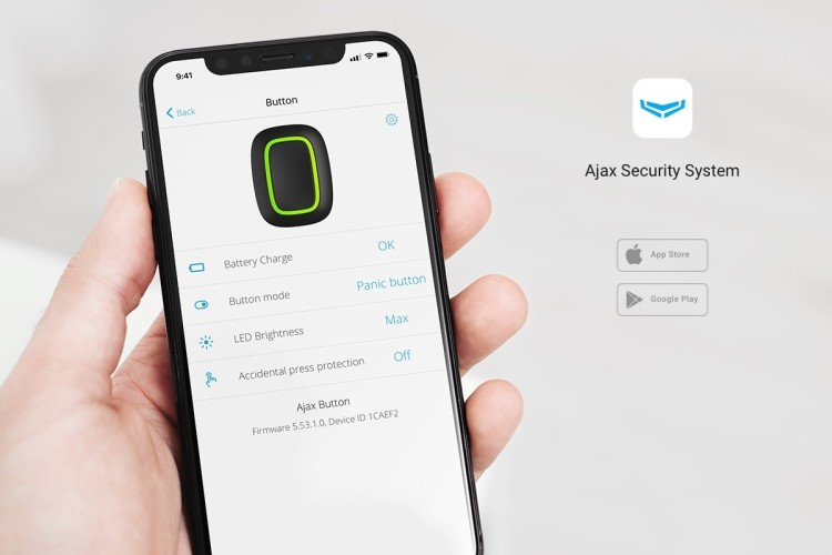 AJAX Button application