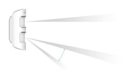 AJAX MotionPortect Outdoor Beam angle