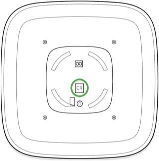 AJAX StreetSiren handleiding QR code scannen