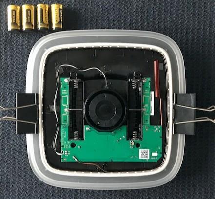 AJAX StreetSiren handleiding batterij vervangen stap 12