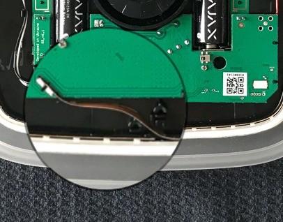 AJAX StreetSiren handleiding batterij vervangen indien ledstrip of kunststof frame is verwijderd stap 4