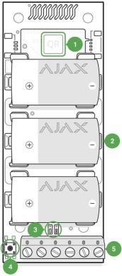AJAX Transmitter Manual functional elements