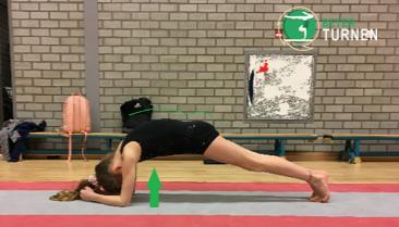 Armen workout plank