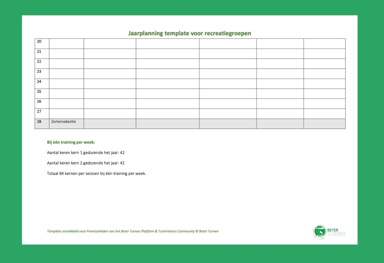 jaarplanning-template
