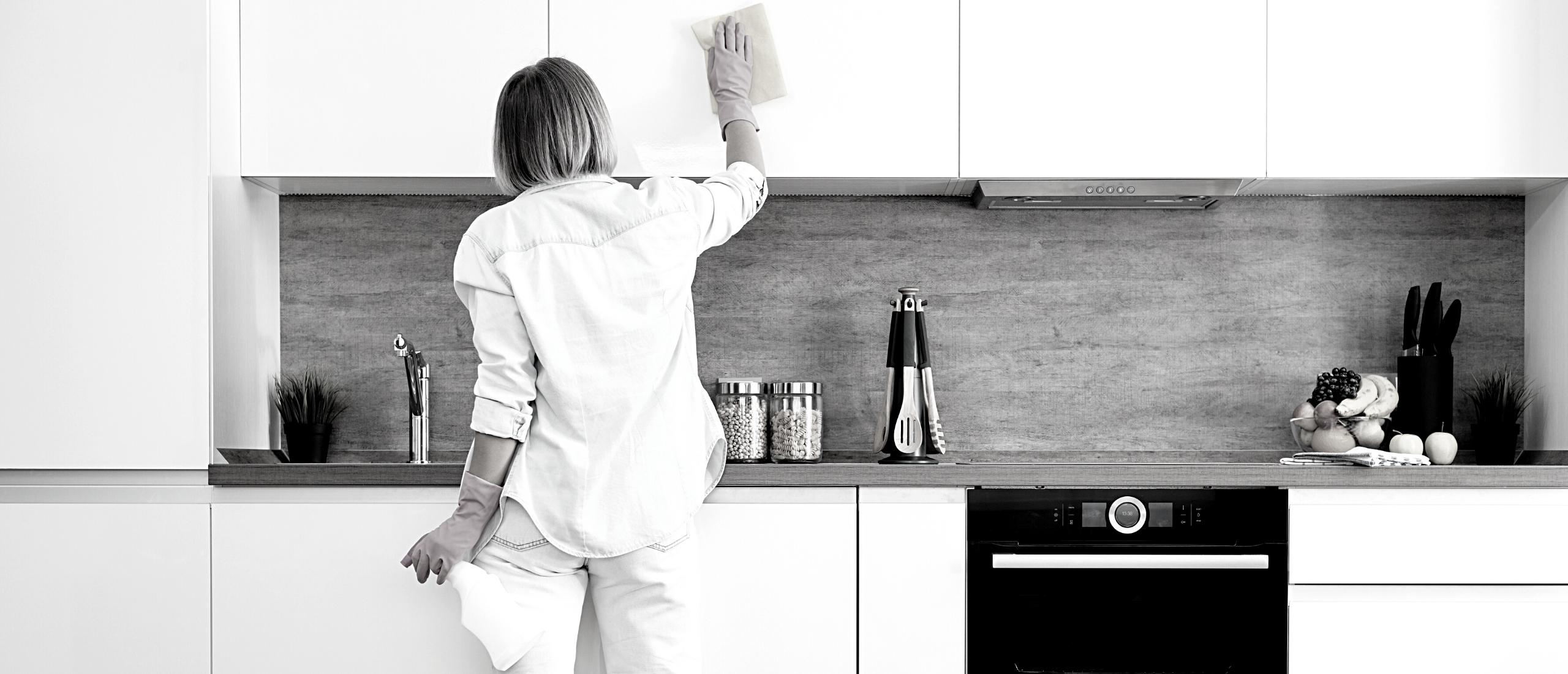 Een schone keuken kookt het lekkerst.