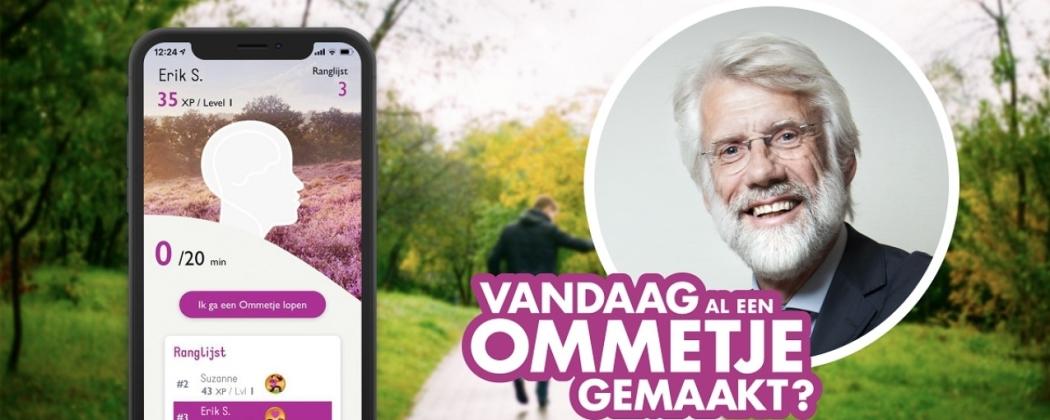 We zitten te veel, daarom nu nog gratis te downloaden, de 'Ommetje app'!