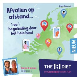 Afvallen met online begeleiding in heel Nederland
