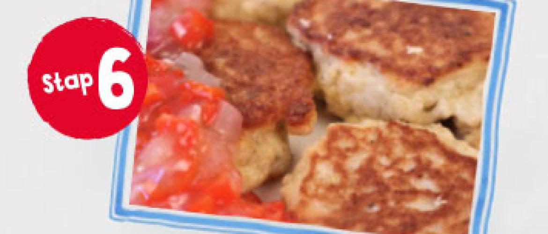 Geitenkaasnuggets met chilisaus vanaf stap 6