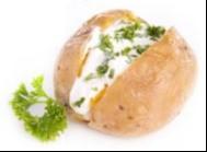 gepofte aardappel kwark 1op1 dieet