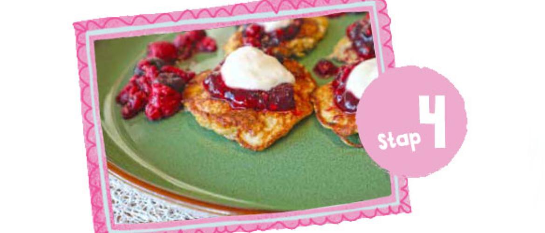 Havermout pannenkoekjes met rood fruit I Recept vanaf stap 4