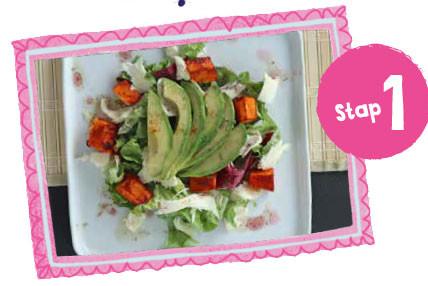 Pompoensalade met harissadressing l 1 op1 dieet Recept vanaf stap 1