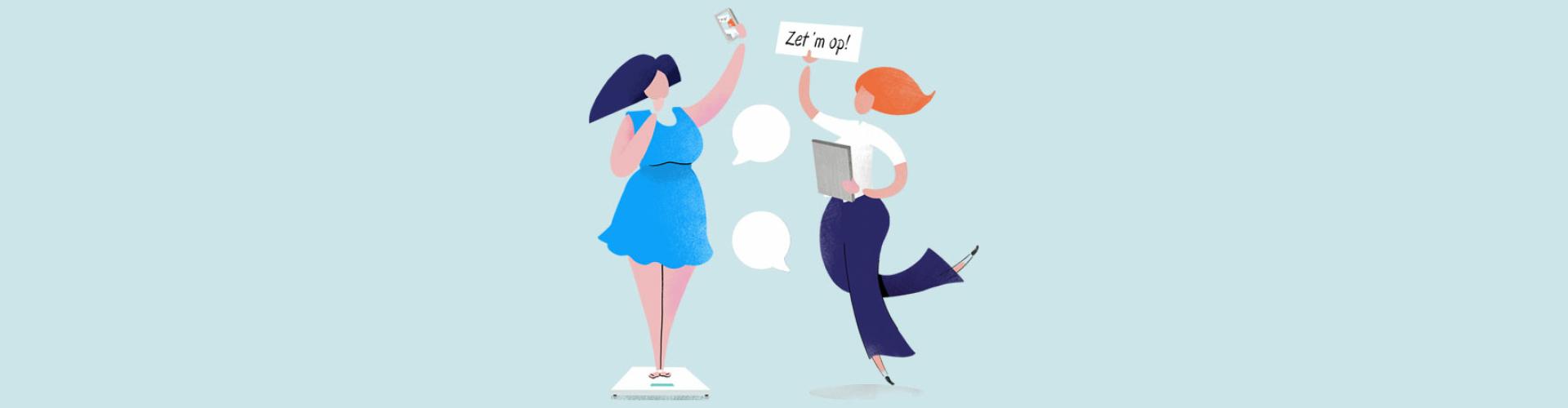 Afvallen met het 1 op 1 Dieet online of in de praktijk