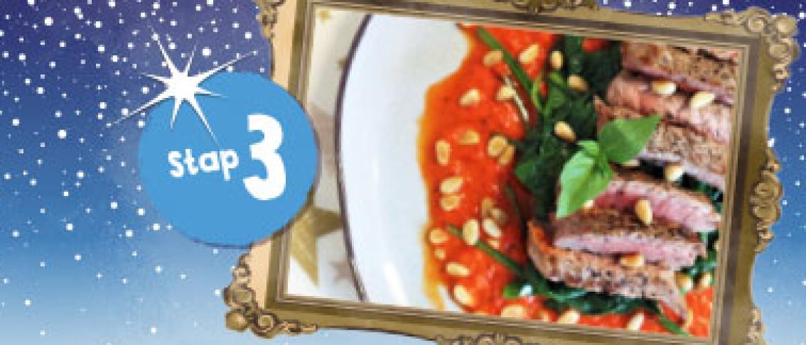 Biefstuk met paprikasaus 1:1 Diet recept