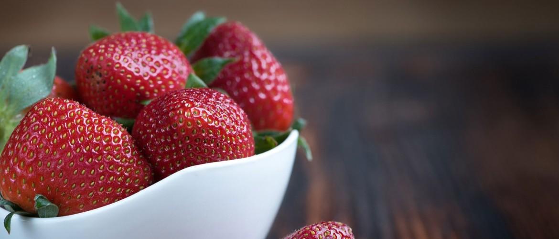 Aardbeien toetje van het 1op 1 dieet stap 4