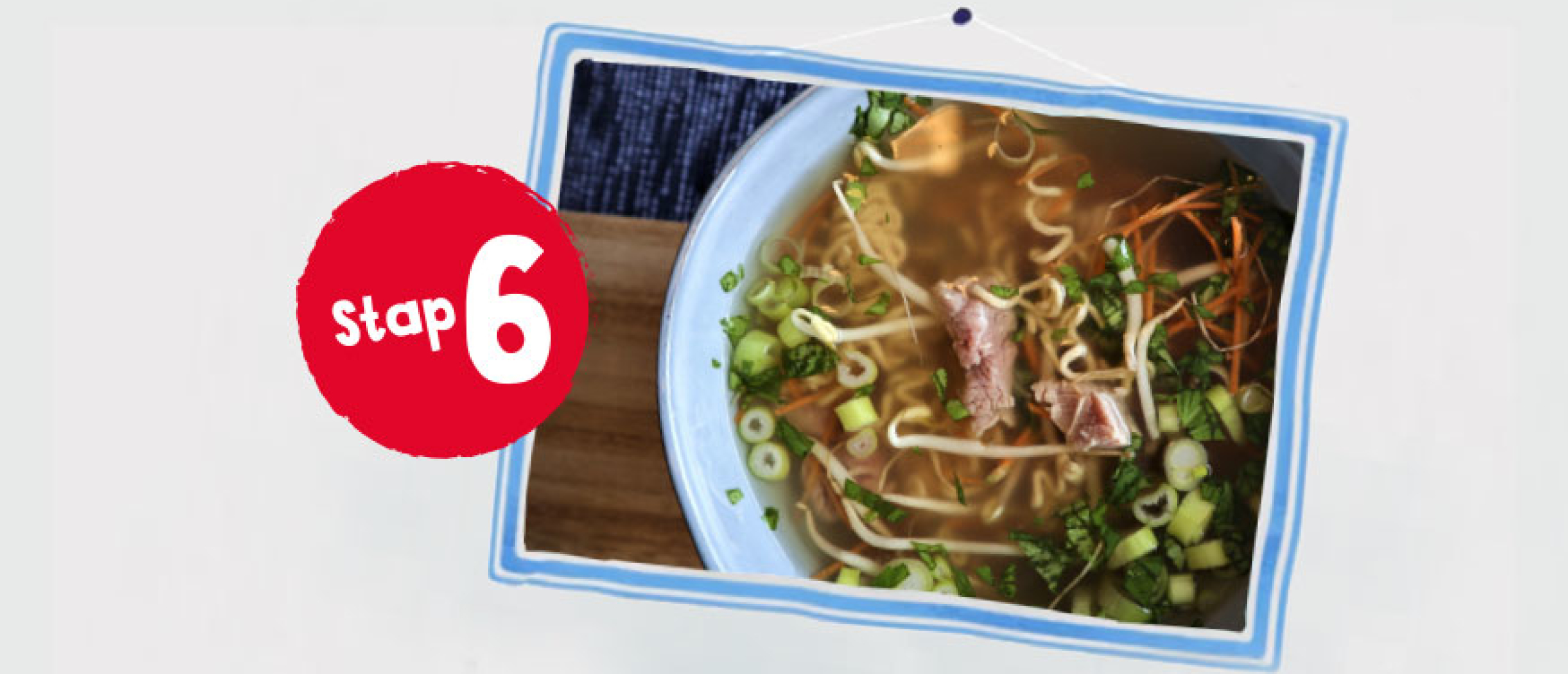 Vietnamese noedelsoep recept vanaf stap 6