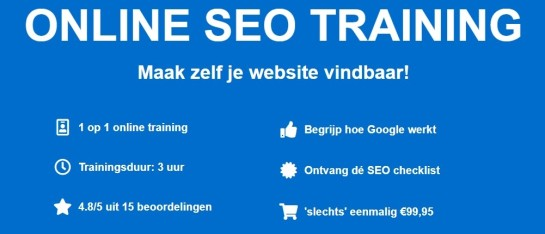 Cursus online SEO training - SEO Hulp